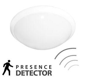 Modern Ceiling Light Bulkhead Microwave Presence Sensor Indoor/Outdoor IP44