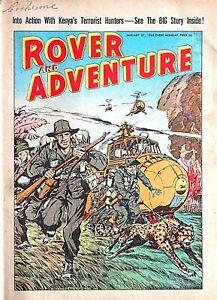 ROVER & ADVENTURE - 27th JANUARY 1962 (22- 28 Jan) RARE 60th BIRTHDAY GIFT beano
