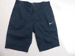 NIKE GOLF DRI FIT MEN'S NAVY STRIPE Golf Shorts   Size 33