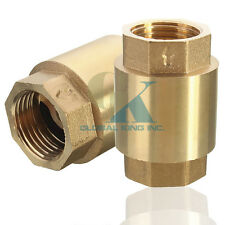 G1'' Brass In-Line Spring Vertical Check Valve Copper Control Tool 232Psi WOG