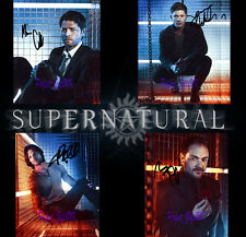 Supernatural TV Series x4 SET of SIGNED AUTOGRAPHED 10X8 PRE-PRINT PHOTO