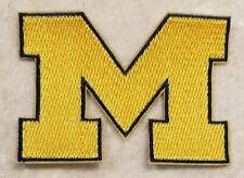 "Michigan University Wolverines 3"" Iron On Embroidered Patch ~FREE Ship`!!"