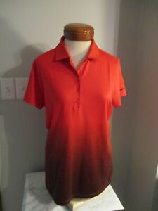 Nike Golf Shirt Womens L Large Red and Black Ombre Golf Shirt
