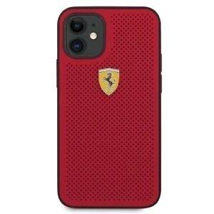 Custodia Ferrari con Logo  Compatibile per Apple Iphone 12 (5.4'') mini - Rossa