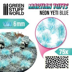 Martian Fluor Tufts - NEON YETI BLUE - Scenery Miniature Basing Warhammer