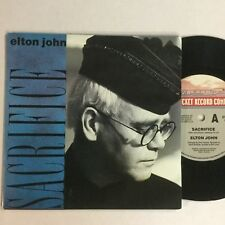 Elton John Sacrifice 1989 OZ Pressing EXc Picture Cover Single