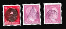 Germany Anti Hitler Head Overprints Post WWII THREE DIFFERENT STAMPS LH & MNH  K