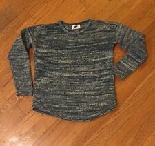 Old Navy Girls Knit Shirt Green/White Size M (8)