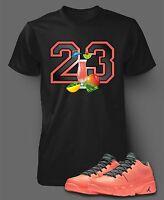 Tee Shirt to Match Air Jordan 9 Mango Shoes  Men Short Sleeve Pro Club T graphic