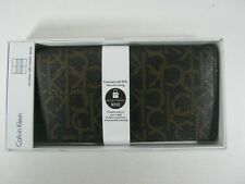 Calvin Klein CK CHO Men's Leather Secretary Wallet RFID Security With Zipper