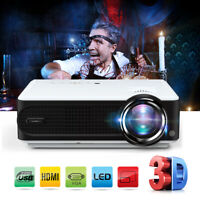 8000 Lumens LCD Mini Projector for Laptop Andriod iPhone Portable Home Theater