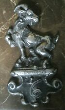 Vintage CAPRICORN Pewter Wall Plaque Astrology Horoscope Metal Emblem (AA2)