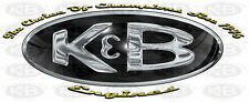Chrome K&B Engine Graphics Decals RC Plane Airplane