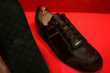 $749.00 !! GUCCI G G  ICONIC LOGO  MEN'S BROWN LEATHER SNEAKERS SHOES SIZE 41 G