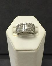 Stunning 14k White Gold Ladies Diamond Cocktail Ring
