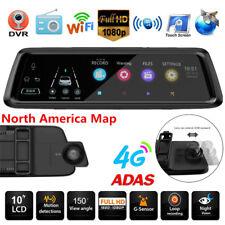 10'' 1080P Android GPS Nav Car DVR Camera Video Recorder ADAS 4G WiFi BT Freemap
