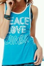 Love N Zumba Loose Tank - Bangin Blue NWT SIZE L