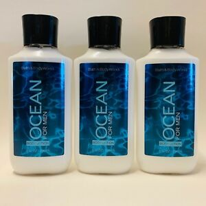 3 Bath & Body Works OCEAN Body Lotion For Men 8 fl.oz 236 ml