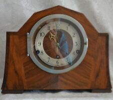 VINTAGE-RARE OCTAGON 4 SIDED TOP MANTLE CLOCK-3 SPRING-BRITIGHT CONG #4