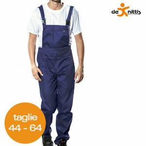 Peto de Trabajo de Algodón Massawa Pantalones Con Babero Chándal Azul Mecánico