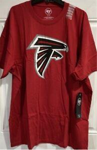 Mens Atlanta Falcons '47 Brand size XL T-Shirt red NFL new short sleeve