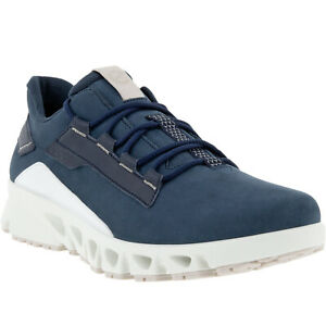 ECCO Mens Multi Vent Leather Gore-Tex Outdoor Casual Trainers Sneakers Shoes