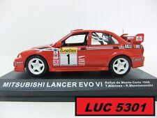 MITSUBISHI LANCER EVO 6 #1 RALLYE MONTE-CARL 1999 PAR IXO POUR ALTAYA AU 1/43