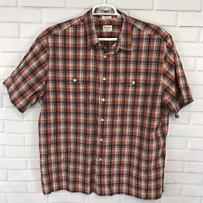 Dockers Mens Shirt Short Sleeve Button Up Plaid Classic Fit Size 2XL XXL