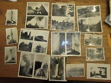 """Over 65 small 2""""-4"""" photos torn out of scrap book photo album 30's or 40's"""
