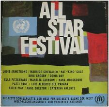 All Star Festival, Crosby, Armstrong, Piaf, Valente, Cole.1963, VG/VG, LP (6333)
