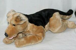 """Toys R Us Plush Dog German Shepherd 30"""" Huge 2000 Puppy Black Brown Toy Large"""