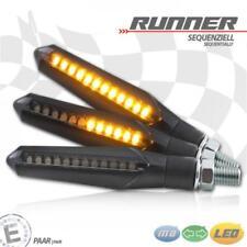 LED-Blinkerset Runner sequenziell Alu getönt M8 Universal Motorrad E-geprüft
