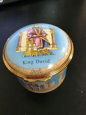 Halcyon Days Enamels Bonbonnieres King David 10 Commandments Nib