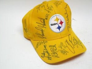 Pittsburgh Steelers Autographed Signed Reebok Hat Yellow Multiple Players
