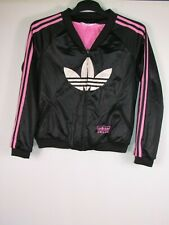 Vintage 90s 00s Adidas Chile Damas Chaqueta Chándal terraza wear casuals