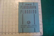 vintage booklet: SEMCO Planograph Planning Spaulding Moss co. 36pgs, info