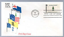 1347 -- Washington's Cruisers Flag  -- First Day cover with Virgil Crow cachet
