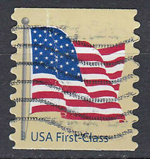 USA Briefmarke gestempelt First Class Fahne Flagge Fahnenmast / 3578