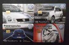 GREECE 4 OF THE 10 PHONECARDS FROM 2003 WITH THEME: VW PAZAROPOULOS, DUMMY !!!