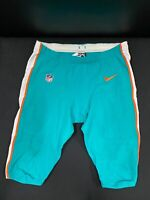 #62 MIAMI DOLPHINS NIKE GAME USED AQUA CURRENT STYLE PANTS 2019/2020 SEASON
