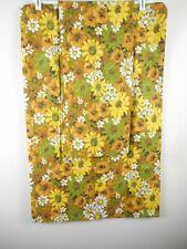2 Vtg ? Thomaston Standard Pillowcases New No Pkg American Mood Brown Floral