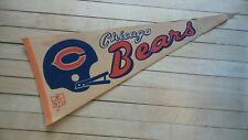 1970's Vintage CHICAGO BEARS NFL FOOTBALL PENNANT Felt, 29""