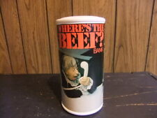 Wheres The Beef bank 1984 vintage Wendys 80s plastic advertising
