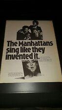 The Manhattans Love Talk Rare Original Promo Poster Ad Framed!
