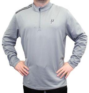 "San Antonio Spurs Adidas NBA Men's ""Dunk"" Climalite 1/4 Zip Pullover Sweatshirt"