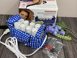 WINDMERE QUICK HEAT 8 TRAVEL Hairsetter HOT ROLLERS DUAL VOLT #QH-8P 90 Seconds