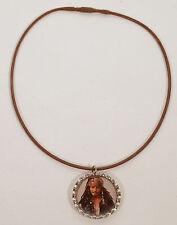 Custom OOAK Jack Sparrow Bottle Cap Necklace Pirates of Caribbean Disney Jewelry