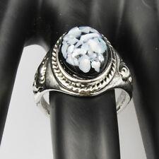 Shells Amber Gemstone New  Jewelry 925 Silver Men Women Ring Size 7