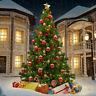 Green 7Ft Artificial PVC Christmas Tree W/Stand Holiday Season Indoor Outdoor
