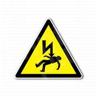High Voltage Electricity Hazard Danger Sign Sticker